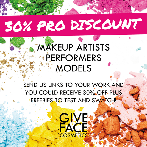 Give Face Cosmetics MUA and student makeup artist professional discount